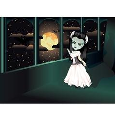 Fashion Zombie Girl on Balcony vector image vector image