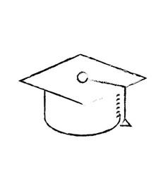 Figure cap graduation to ceremony sucess vector