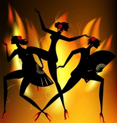 flaming dance vector image vector image