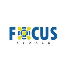 focus target logo vector image vector image