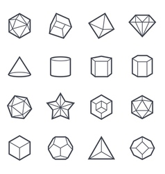 Geometric shapes icon bold stroke vector