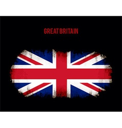 Grunge british flag vector image