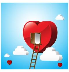 Just open heart happy valentine day 001 vector image vector image
