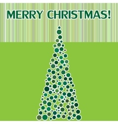 Merry Christmas postcard with fir vector image