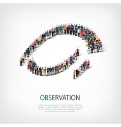 Observation people sign 3d vector