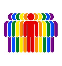 Parade lgbt movement rainbow flag vector