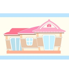 Pastel cute doll house vector