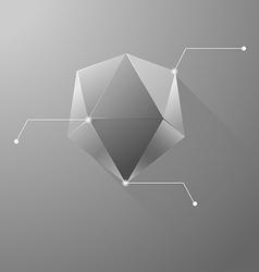 Polygon info graphic vector image vector image