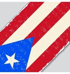 Puerto rican grunge flag vector