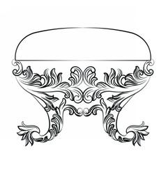 Rich baroque rococo chair vector