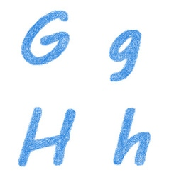 Sketch font set - letters g h vector