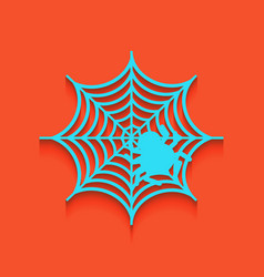 Spider on web whitish icon vector