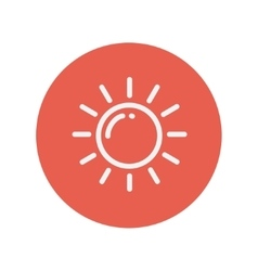 Sun thin line icon vector image
