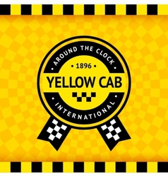 Taxi symbol with checkered background - 14 vector