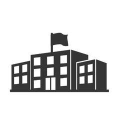 University building education construction icon vector