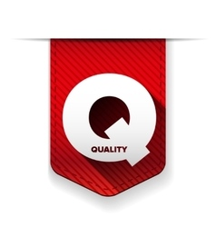 Quality icon ribbon vector image