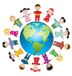 children around the world vector image