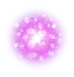 Abstract explosion with magenta dust elements vector image