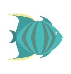 green fish marine species icon vector image