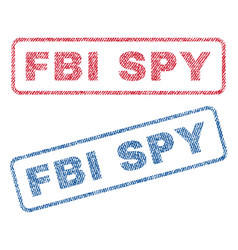 Fbi spy textile stamps vector
