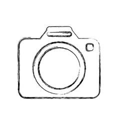 Modern photographic camera vector