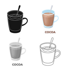 cup of cocoadifferent types of coffee single icon vector image
