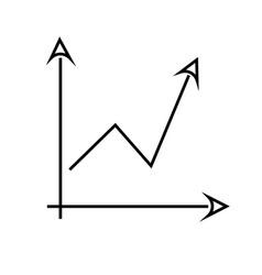 Arrow chart icon vector