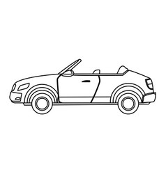 Convertible car sport luxury elegant vehicle vector
