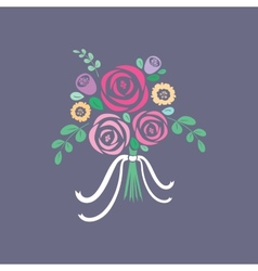 Floral bouquet vector