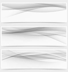 Modern grey halftone abstract header collection vector