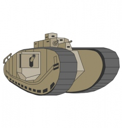 Mark viii anglo-american tank vector