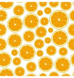 Half color orange fruits seamless pattern eps10 vector