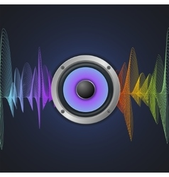 Musical concept audio speaker and equalizer on vector