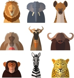 Icons of african animals2 vector image