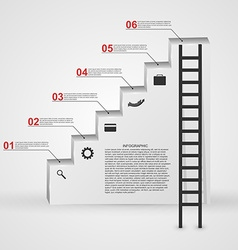 Infographic in the form of steps staircase design vector