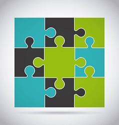 Puzzle assembling design vector