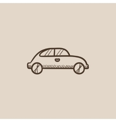 Car sketch icon vector