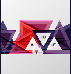 Color triangles background design vector