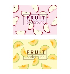 Colorful background with fruits 3 vector