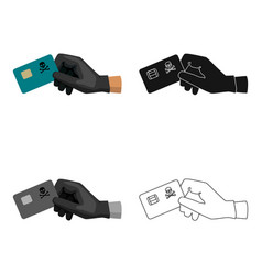 credit card fraud icon in cartoon style isolated vector image vector image