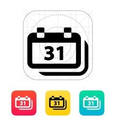 Dates icon vector