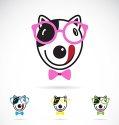 Dog glasses vector image vector image