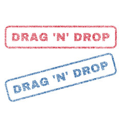 Drag n drop textile stamps vector
