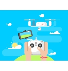 Driving quadrocopters design flat vector image vector image