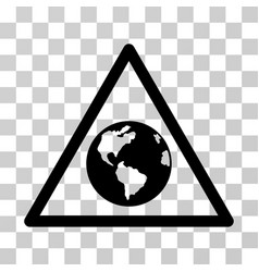 Earth warning icon vector