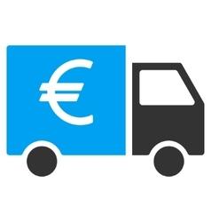 Euro truck flat icon vector