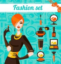 Fashion woman set vector image vector image