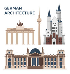 german architecture modern flat design vector image