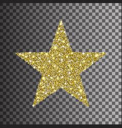 gold glitter star on transparent background vector image vector image