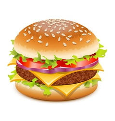 Hamburger with cheese vector